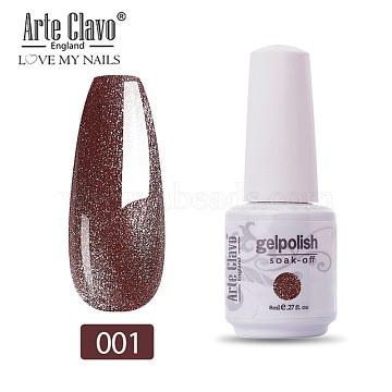 8ml Special Nail Gel, for Nail Art Stamping Print, Varnish Manicure Starter Kit, Sienna, Bottle: 25x66mm(MRMJ-P006-I002)