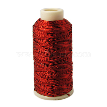 Metallic Cord, 12-Ply, Red, 1mm, about 196.85 yards(180m)/roll(MCOR-G001-1mm-11)