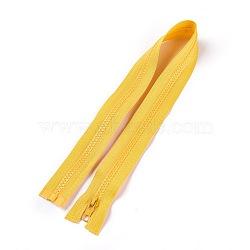 accessoires du vêtement, fermeture à glissière en nylon et résine, avec tirette en alliage, composants de fermeture à glissière, or, 57.5x3.3 cm(X-FIND-WH0031-B-08)