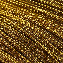 Metallic Cord, Dyed Golden, 0.8mm, about 109.36 yards(100m)/bundle(X-AS008Y)