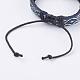 Adjustable Unisex Cowhide Cord Bracelets(BJEW-F300-06B)-3