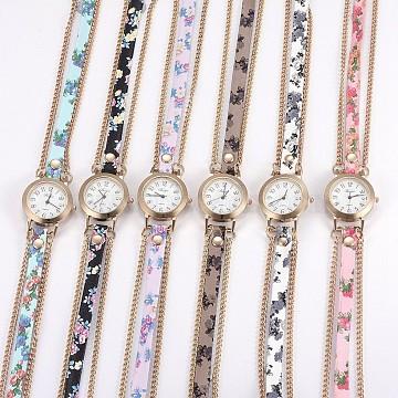 Mixed Color Leather Quartz Watch