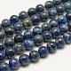 Dyed Natural Grade AB Lapis Lazuli Round Bead Strands(X-G-M290-8mm-AB)-1