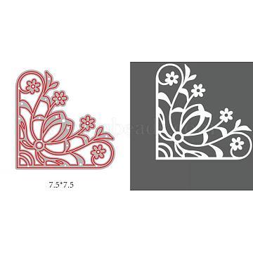 Carbon Steel Cutting Dies Stencils, for DIY Scrapbooking/Photo Album, Decorative Embossing DIY Paper Card, Floral Pattern, Matte Platinum Color, 77x77mm(DIY-WH0170-074)