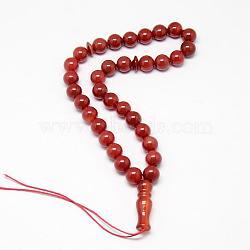 """Bijoux bijoux cornaline naturelle mala de perles bracelets enroulés, teint, 12-5/8"""" (320 mm)(G-T015-H01)"""