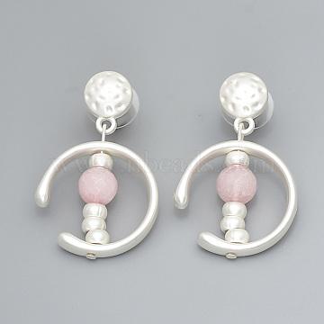 Pink Alloy Stud Earrings