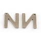 304 Stainless Steel Letter Charms(STAS-S036-14)-1