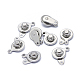 316 Surgical Stainless Steel Snap Clasps(STAS-F208-02B-P)-1