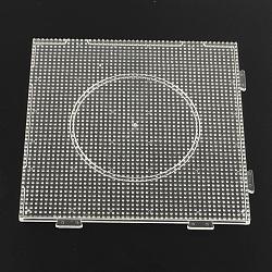 Plaques pour les petites perles à repasser de 3x2.5mm, clair, 140x140x7.5mm(X-DIY-Q009-09)