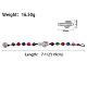 Alloy Beaded Bracelets(BJEW-Q695-12AS-NR)-2