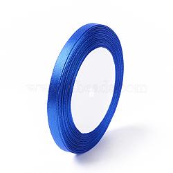 Ruban de satin pour la décoration de partie bricolage hairbow, bleu royal, 25yards / roll (22.86m / roll)(X-RC6mmY040)