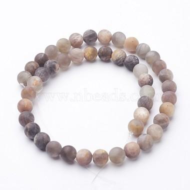 Natural Black Sunstone Bead Strands(G-G947-32-8mm)-2