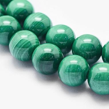 Natural Malachite Beads Strands(G-O166-07A-8mm)-3