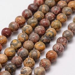 """Chapelets de perles de jaspe en peau de léopard naturel, rond, 6mm, trou: 1.2 mm; 65 perle / Chapelet, 15.7""""(G-N0181-02-6mm)"""