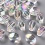 Clear AB Oval Acrylic Beads(TACR-S156-002)