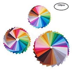 Aiguille de broderie de tissu non tissé de rectangle pour l'artisanat de bricolage, couleur mixte, 15~30x10~20x0.1cm; 120pcs / set(DIY-BC0003-01)