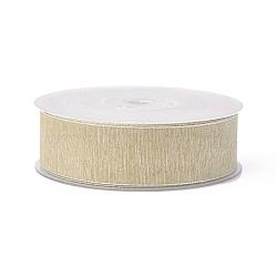 rubans de polyester, bisque, 1-1 / 2 (38 mm); à propos de 100 yards / rouleau (91.44 m / roll)(SRIB-L051-38mm-C004)