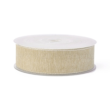 Polyester Ribbons, Bisque, 1-1/2 inches(38mm); about 100yards/roll(91.44m/roll)(SRIB-L051-38mm-C004)