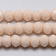 Imitation Jade Glass Faceted Rondelle Beads Strands(X-GLAA-F001-6x4mm-14)-1