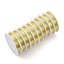 Copper Jewelry Wire, Long-Lasting Plated, Light Gold, 0.2mm; 25m/roll