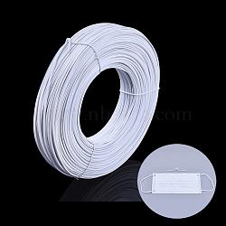 Fil de pont de nez de pe pour la couverture de bouche, avec un noyau de fil de fer galvanisé à l'intérieur, matériau de couverture buccale jetable bricolage, blanc, 2.2 mm; 300 m / bundle(OCOR-Q051-01A)