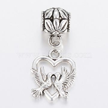 34mm Heart Alloy Dangle Beads