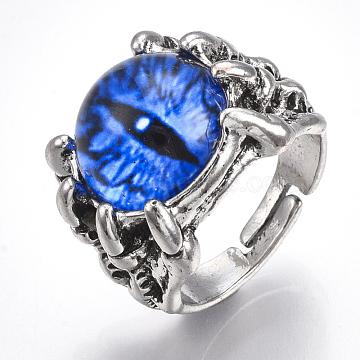 Blue Glass Finger Rings