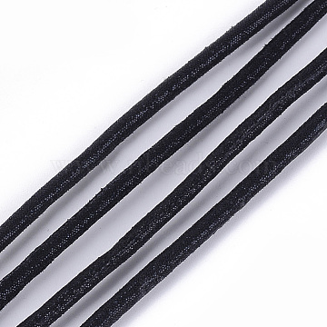 PU Leather Cords, Black, 3mm, about 109.36 yards(100m)/bundle(LC-S018-06C)