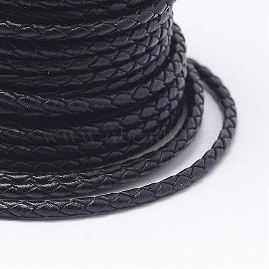 Braided Cowhide Leather Cord(NWIR-N005-01C-4mm)-3