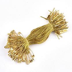 Ценник одежды повесить, металлический корд, с предохранительной булавкой и застежкой, золотые, золотые, 115x1 мм; булавка: 20x5x2 мм, булавка: 0.5 мм; барная застежка: 16x2x1.5 мм; около 1000 шт. / пакет(CDIS-T001-23A-G)