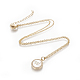 Brass Initial Pendant Necklaces(NJEW-I230-24G-W)-1