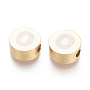Golden Flat Round 304 Stainless Steel Beads(X-STAS-I126-02G-O)