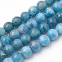 """Natural Apatite Beads Strands, Round, 10x9.5mm, Hole: 1mm; about 38pcs/strand, 14.5"""""""