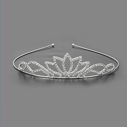 модные свадебные короны, свадебные диадемы, с основанием из железа и латуни, кристалл, 115 mm(OHAR-S194-11)