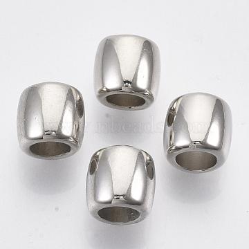 CCB Plastic Beads, Large Hole Beads, Column, Platinum, 11.5x10.5mm, Hole: 6.5mm(X-CCB-S160-313B-01)