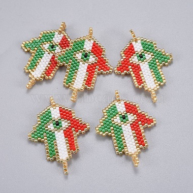 Handmade Japanese Seed Beads Links(SEED-P003-60)-2