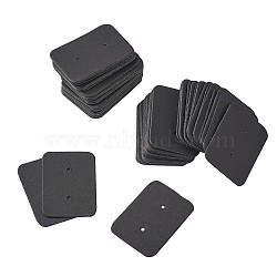 Jewelry Earring Display Kraft Paper Price Tags, Rectangle, Black, 35x25x0.5mm(CDIS-TAC0001-02A)