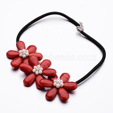 DarkRed Howlite Necklaces