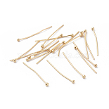 2.4cm Real Gold Plated Brass Pins(X-KK-S348-208)