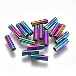 Perles de tube en 304 acier inoxydable, multicolore, 10x3mm, Trou: 2mm(STAS-F224-01M-D)