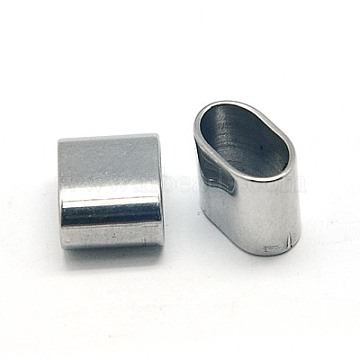 304 Stainless Steel Slide Charms, Rectangle, 10x8x5mm, Hole: 8.5x5mm(X-STAS-E018-1)