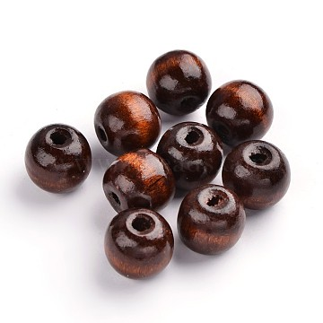 19mm DarkGoldenrod Round Wood Beads