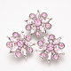 Alloy Rhinestone Snap Buttons(X-SNAP-T001-14E)-1