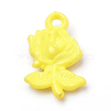 Yellow Flower Acrylic Pendants