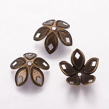 Antique Bronze Iron Bead Caps