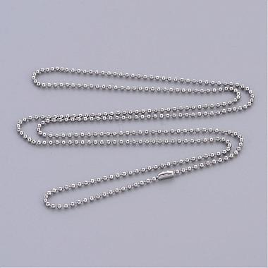 Stainless Steel Ball Chain Necklace Making(X-IFIN-R114-1.5mm)-2
