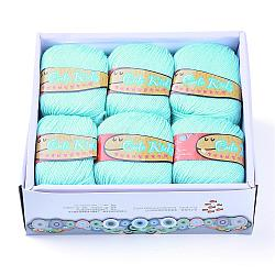 Soft Baby Yarns, with Cashmere, Acrylic Fibres and PAN Fiber, PaleTurquoise, 2mm; about 50g/roll, 6rolls/box(YCOR-R020-15)