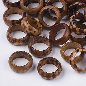 Wood Thumb Rings, BurlyWood, Size 6, 16mm(X-RJEW-N028-01-M)