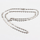 Classic Plain 304 Stainless Steel Mens Womens Cable Chain Necklace Makings(STAS-P045-03P)-2