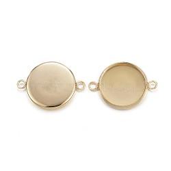 304 настройки разъема кабошона из нержавеющей стали, чашки безель с краем, плоские круглые, золотой, лоток: 14 мм; 21.5x16x2 мм, отверстия: 2 mm(X-STAS-G127-14-14mm-G)